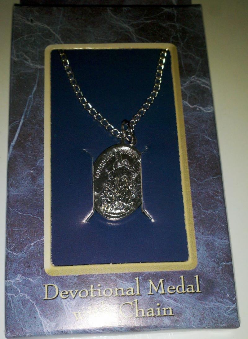 Guardian Angel / St Michael Medal and chain